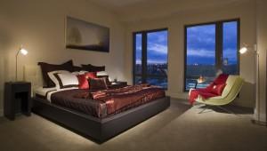 bedroom interior, The Residences Mandarin Oriental, Boston