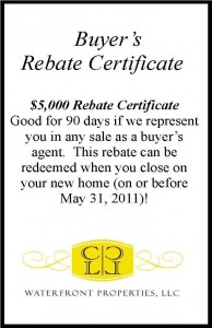 CL Waterfront Properties Rebate Certificate