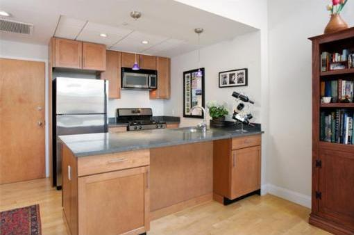 Beacon Hill condo kitchen