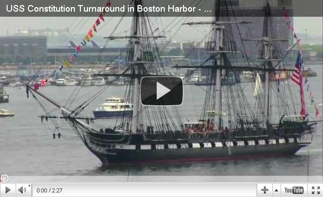 USS Constitution sets sail along the Boston Waterfront during the Fourth of July Celebrations