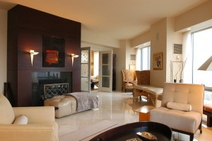 Interior view of the condominium formerly owned by Boston Red Sox star Manny Ramirez