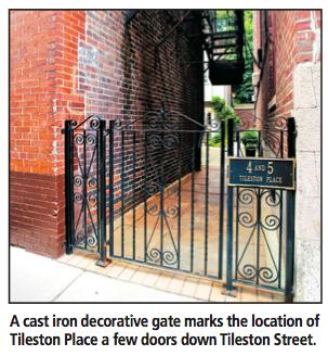 5 Tileston Pl North End Boston Home cast iron gate to private entrance