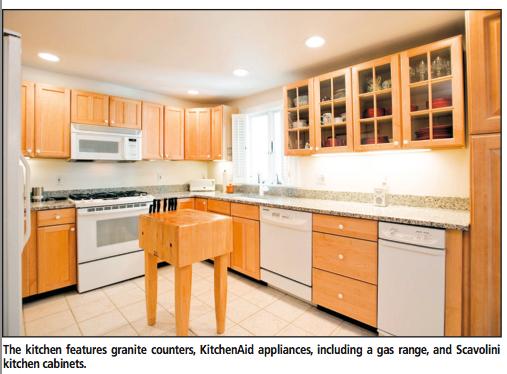 5 Tileston Pl North End Boston Home spacious kitchen Scavolini Cabinets