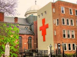 st. leonard's garden featuring new cross