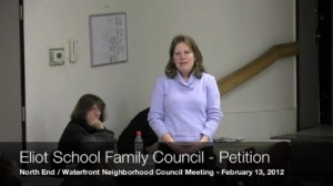 North End Eliot School family council Petition