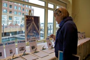 A bidder at TBHA's annual auction